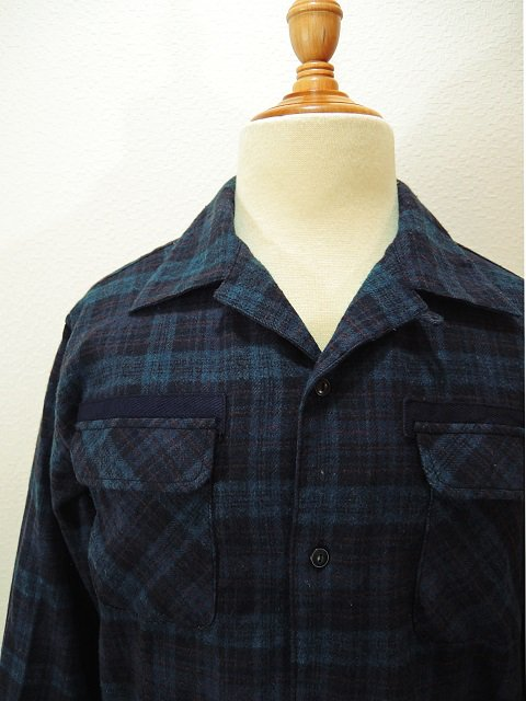 【modem design】FLANNEL OPEN COLLAR CHECK SHIRT(M-1710753):画像3