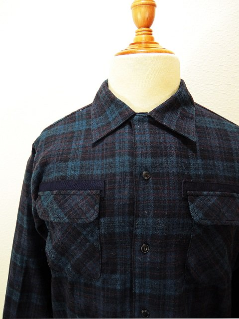 【modem design】FLANNEL OPEN COLLAR CHECK SHIRT(M-1710753):画像4