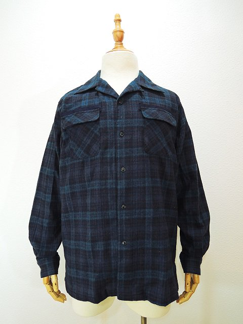【modem design】FLANNEL OPEN COLLAR CHECK SHIRT(M-1710753)