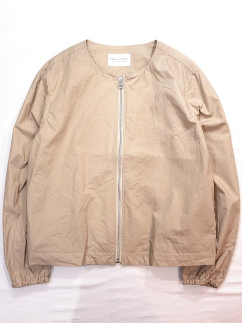 【MANUAL ALPHABET】TYPEWRITER ZIP BLOUSON(WOMEN):メイン画像