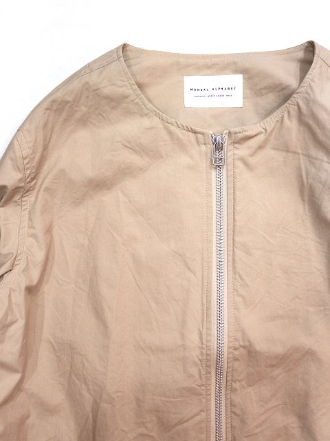 【MANUAL ALPHABET】TYPEWRITER ZIP BLOUSON(WOMEN):画像2