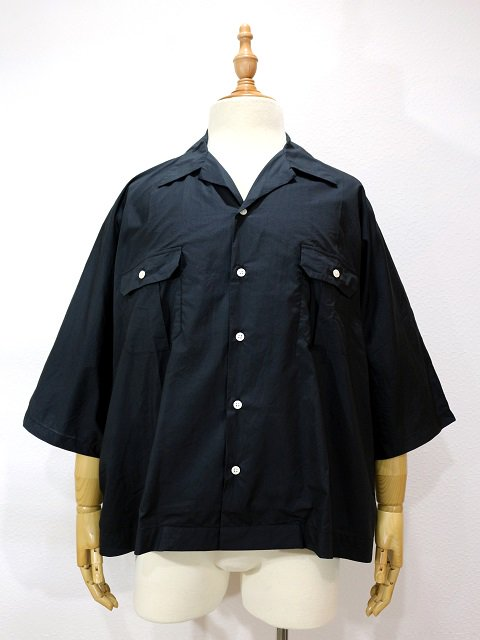 【H.UNIT STORE LABEL】Dolman open collar short sleeves shirt:メイン画像