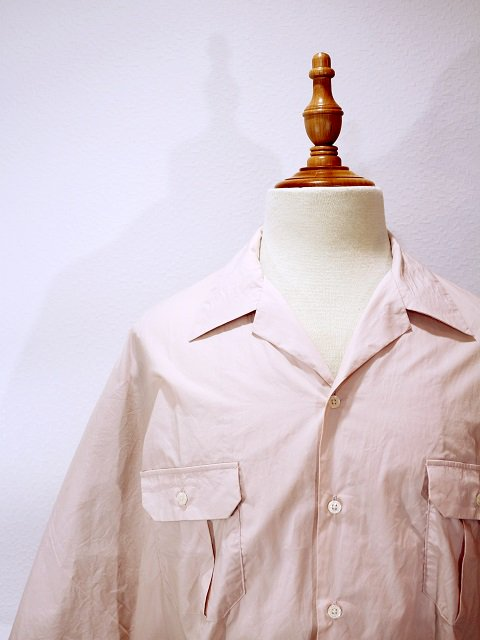 【H.UNIT STORE LABEL】Dolman open collar short sleeves shirt:画像2