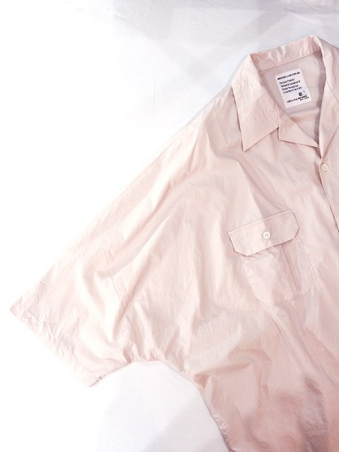 【H.UNIT STORE LABEL】Dolman open collar short sleeves shirt:画像4