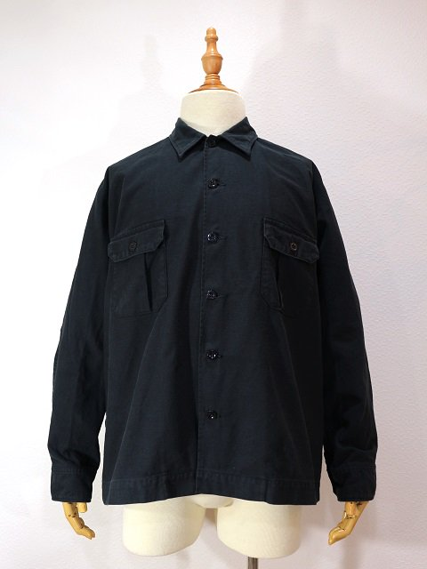 【H.UNIT STORE LABEL】Back stain dolman open collar long sleeves shirt:メイン画像