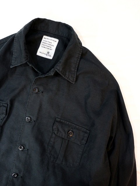 【H.UNIT STORE LABEL】Back stain dolman open collar long sleeves shirt:画像4