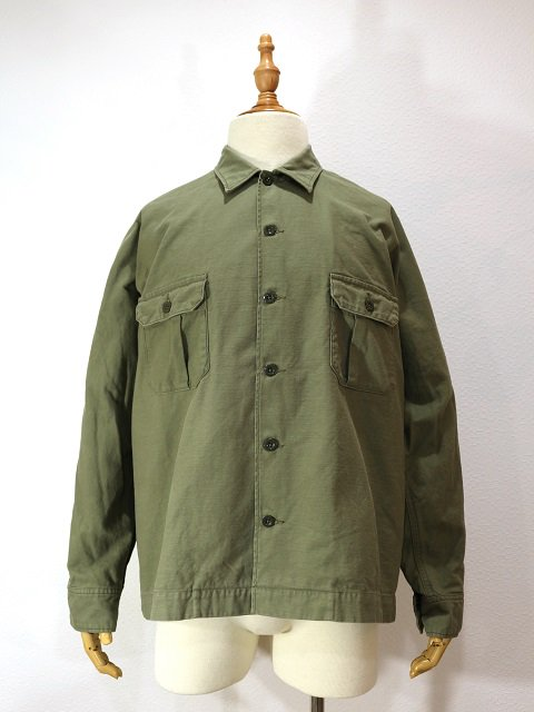 【H.UNIT STORE LABEL】Back stain dolman open collar long sleeves shirt