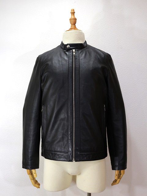 【ReRe】LAMBSKIN SINGLE RIDERS JACKET:画像1