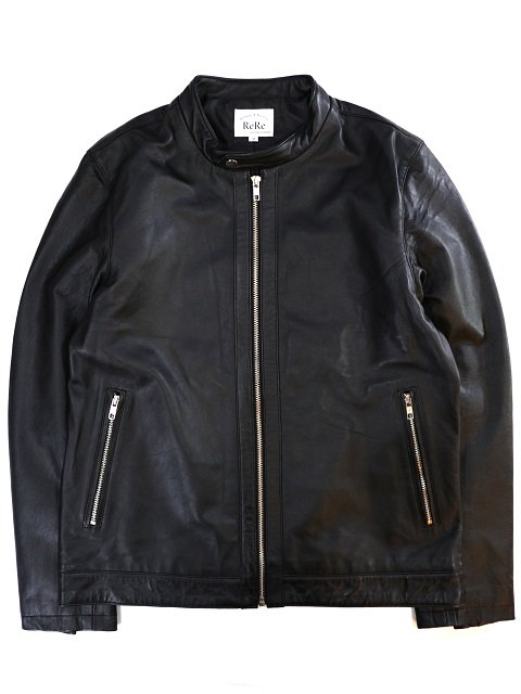 【ReRe】LAMBSKIN SINGLE RIDERS JACKET:画像2