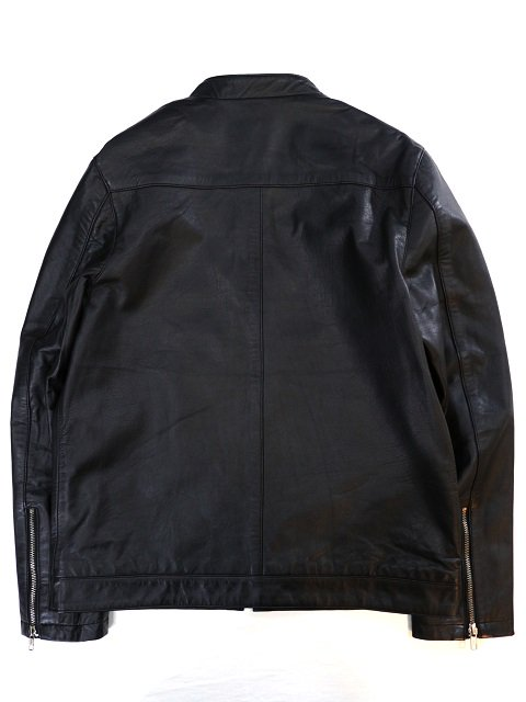 【ReRe】LAMBSKIN SINGLE RIDERS JACKET:画像3