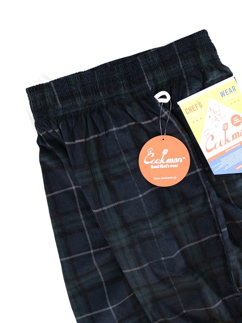 【COOKMAN】Chef Pants Corduroy Tartan:メイン画像