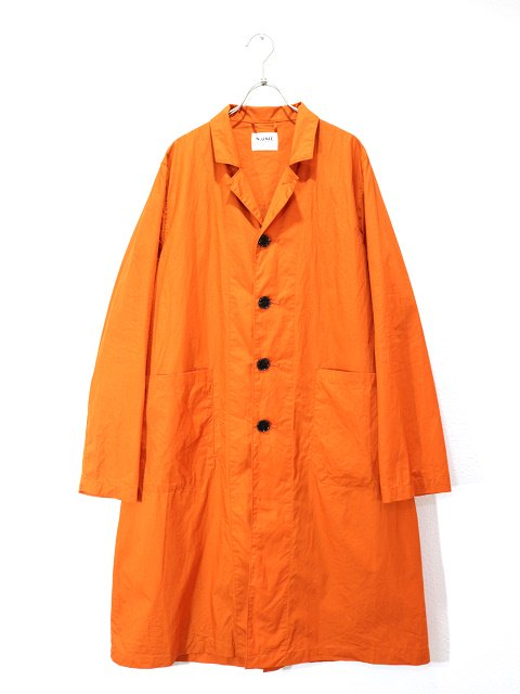 【H.UNIT】Broadcloth long atelier coat:メイン画像