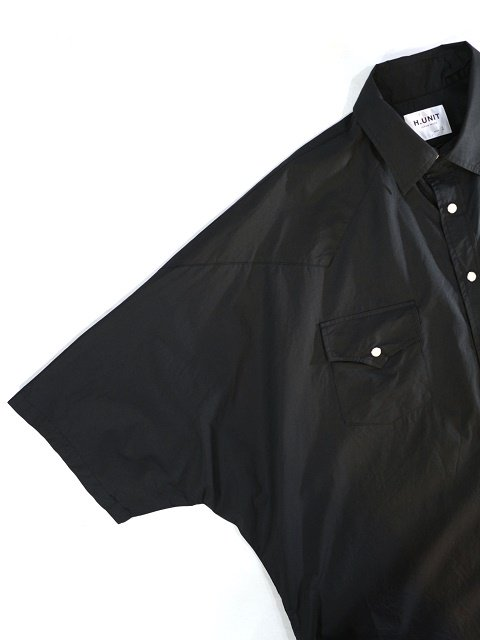 【H.UNIT】Typewriter western dolman short sleeves shirt:画像2