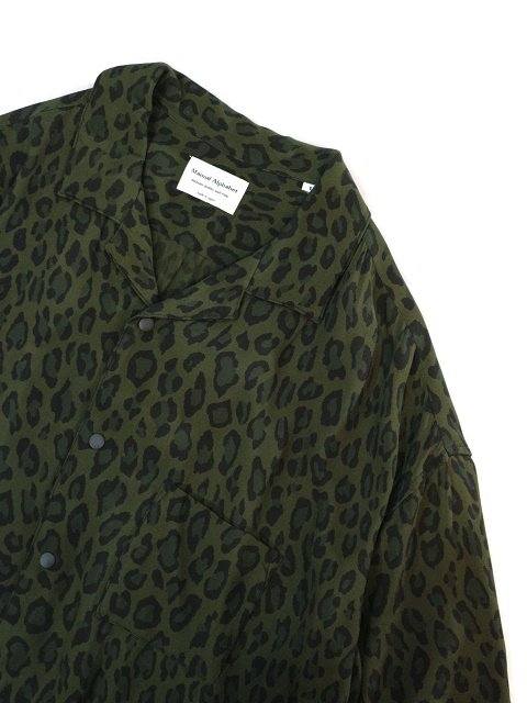 【MANUAL ALPHABET】LEOPARD OPEN COLLAR SHT:画像3