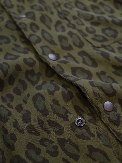 【MANUAL ALPHABET】LEOPARD OPEN COLLAR SHT:画像4