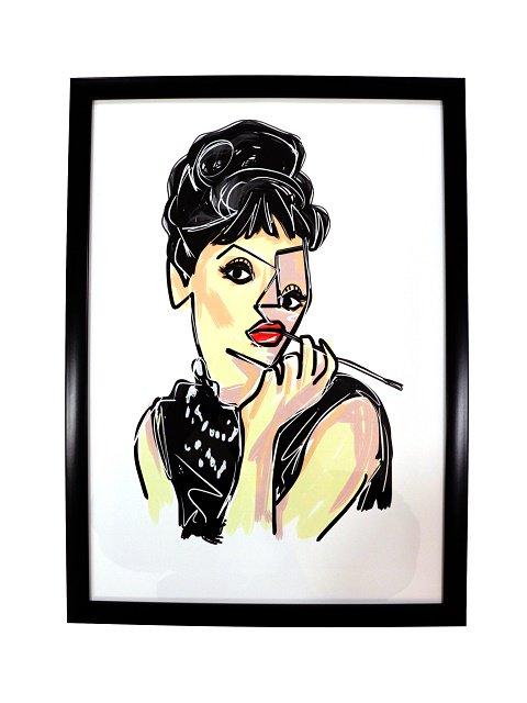 【bend(s)】ART PIC-BLACK FLAME(Audrey Hepburn):メイン画像