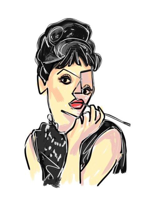 【bend(s)】ART PIC-BLACK FLAME(Audrey Hepburn):画像2