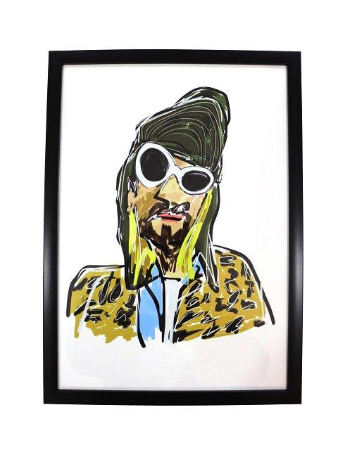 【bend(s)】ART PIC-BLACK FLAME(Kurt Cobain)