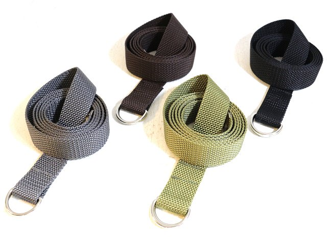 【ReRe】D RING NARROW N-TAPE BELT