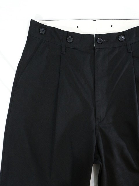 【H.UNIT】Chino crown size tuck trousers:画像2