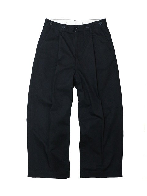 【H.UNIT】Chino crown size tuck trousers