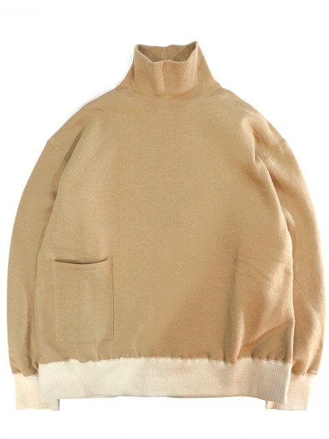 【H.UNIT】Mock neck pocket sweat:メイン画像
