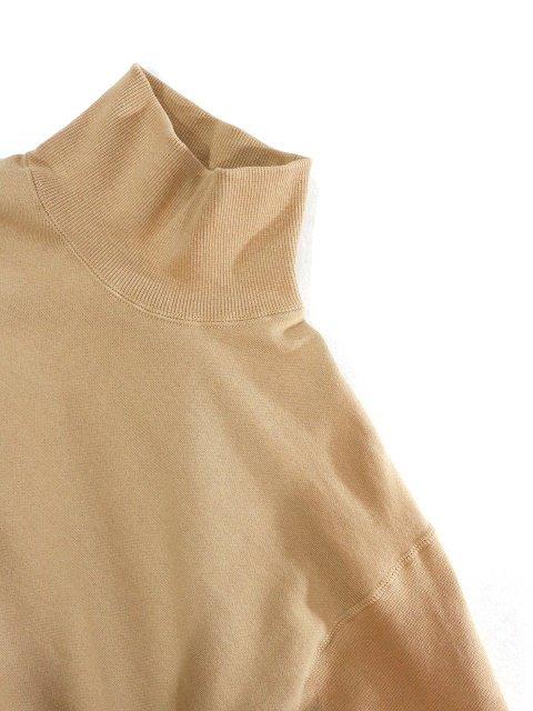 【H.UNIT】Mock neck pocket sweat:画像2