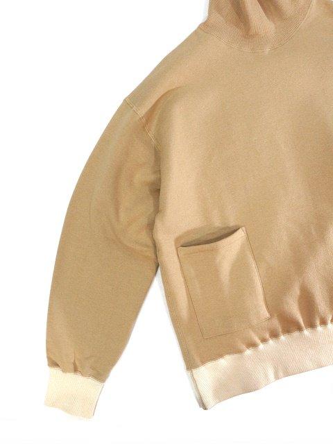 【H.UNIT】Mock neck pocket sweat:画像3