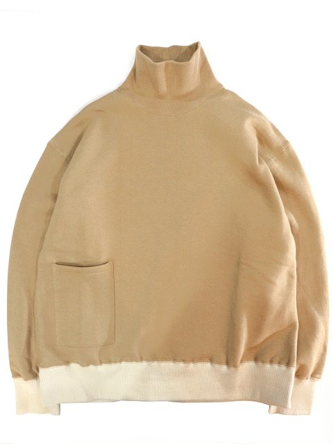 【H.UNIT】Mock neck pocket sweat