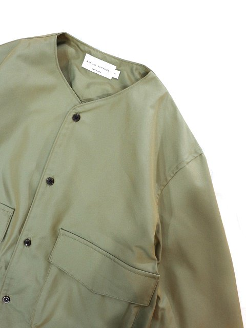 【MANUAL ALPHABET】GABARDINE CARGO SHT:画像2