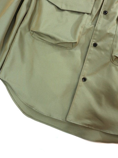 【MANUAL ALPHABET】GABARDINE CARGO SHT:画像4