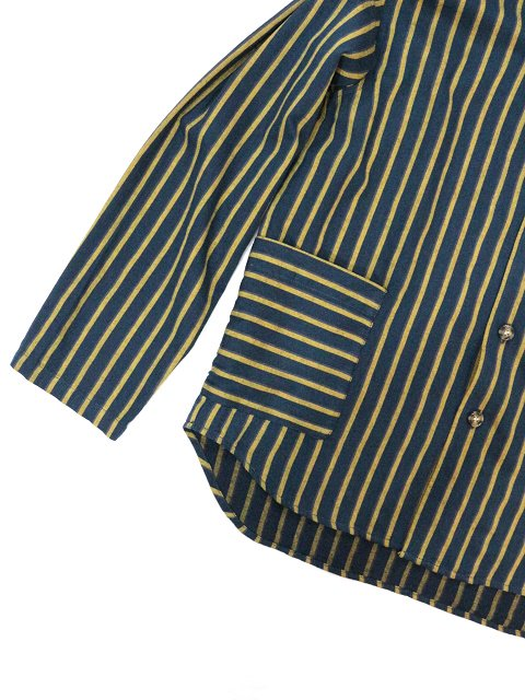 【modem design】RETRO STRIPED POCKET SHIRT(M-1910851):画像3