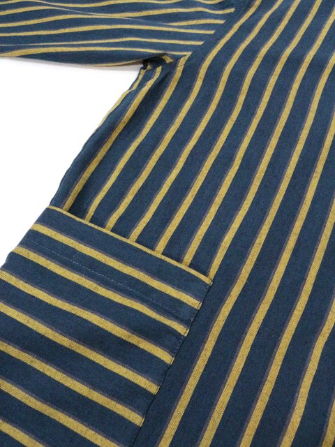 【modem design】RETRO STRIPED POCKET SHIRT(M-1910851):画像4