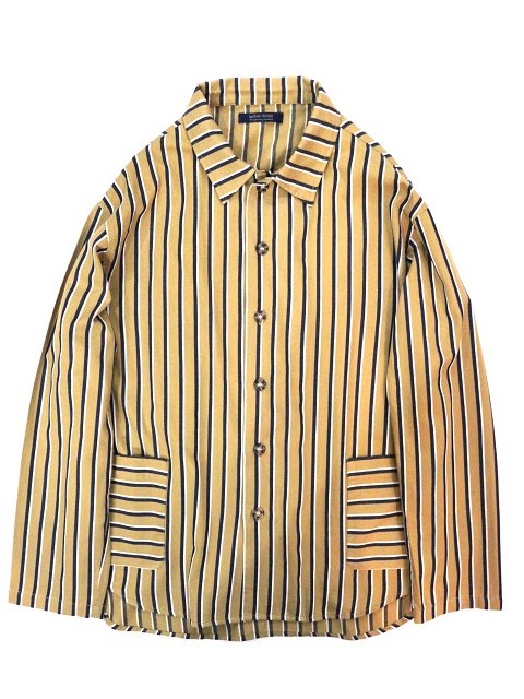 【modem design】RETRO STRIPED POCKET SHIRT(M-1910851)