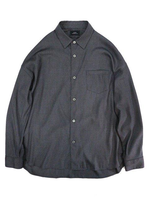 【SLICK】T/R Stretch Twill Dropped Shoulders Shirt:メイン画像