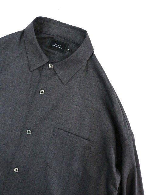 【SLICK】T/R Stretch Twill Dropped Shoulders Shirt:画像2