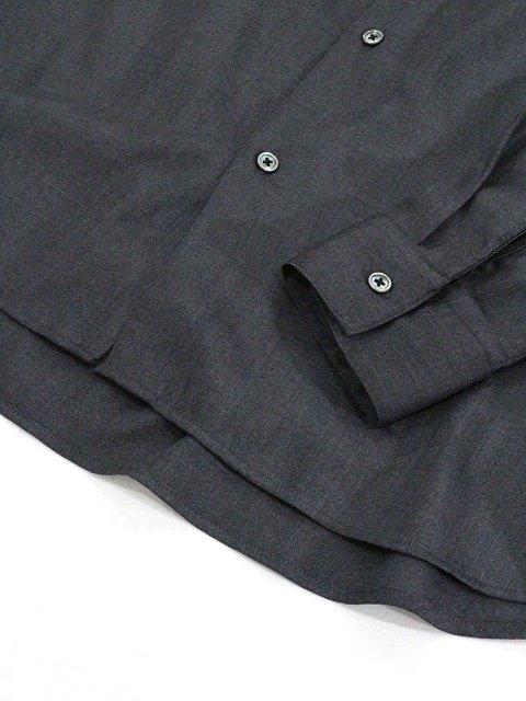 【SLICK】T/R Stretch Twill Dropped Shoulders Shirt:画像4