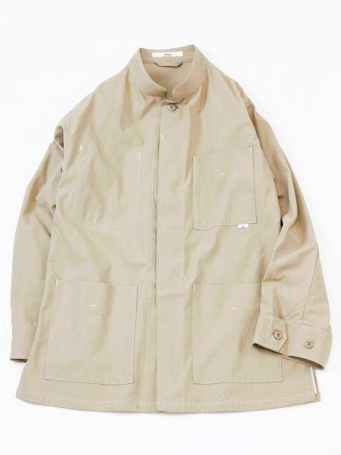 【amne】stitch HARD TWIST GABARDINE jacket:メイン画像