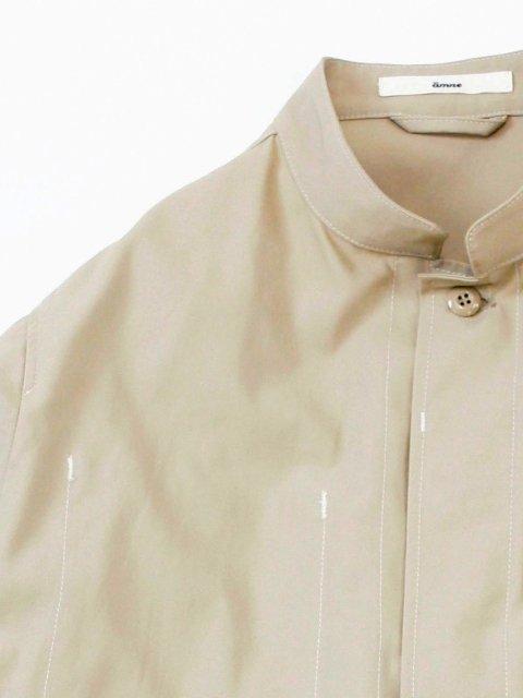 【amne】stitch HARD TWIST GABARDINE jacket:画像2
