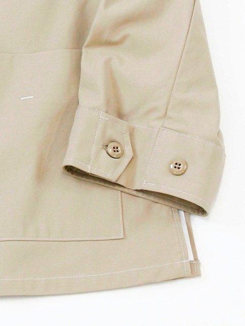 【amne】stitch HARD TWIST GABARDINE jacket:画像3