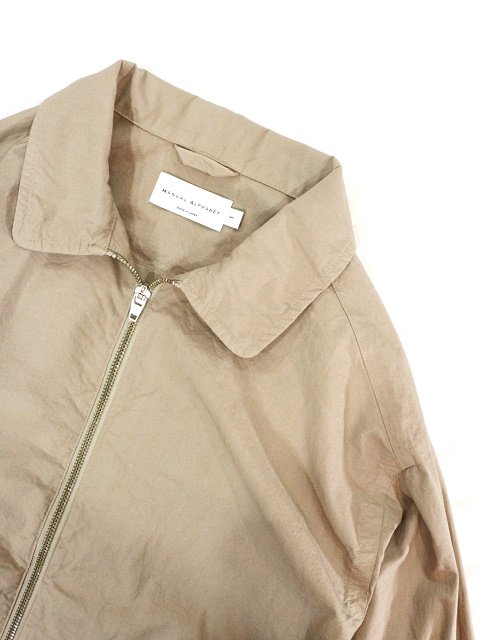 【MANUAL ALPHABET】OVERDYED DRIZZLER JACKET:画像2