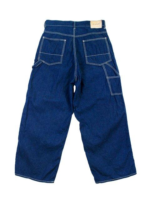 【H.UNIT】Work denim crown size painter pants:画像2