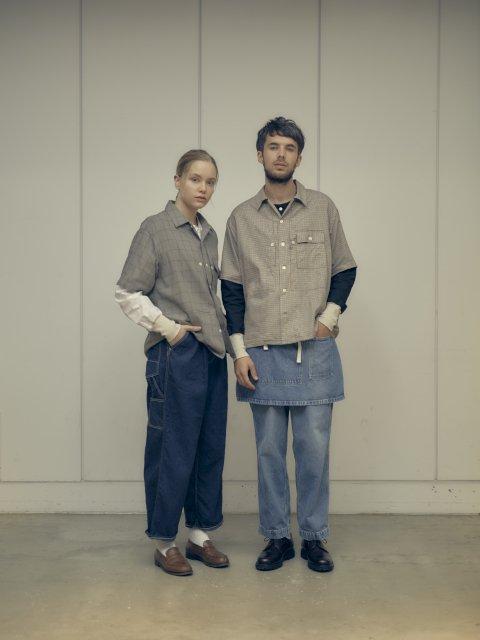 【H.UNIT】Work denim crown size painter pants:画像3