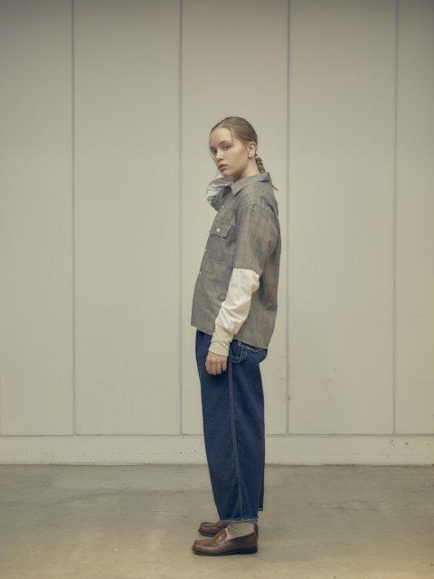 【H.UNIT】Work denim crown size painter pants:画像4