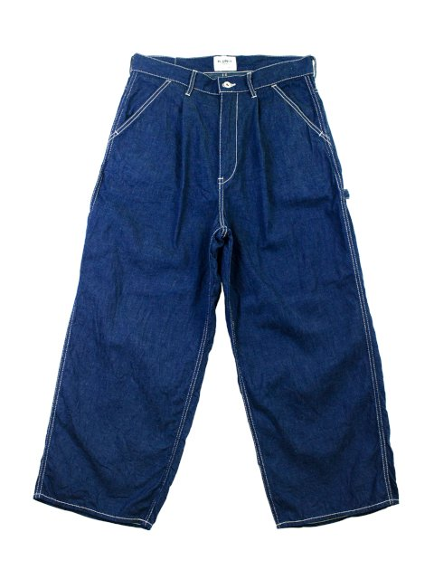 【H.UNIT】Work denim crown size painter pants