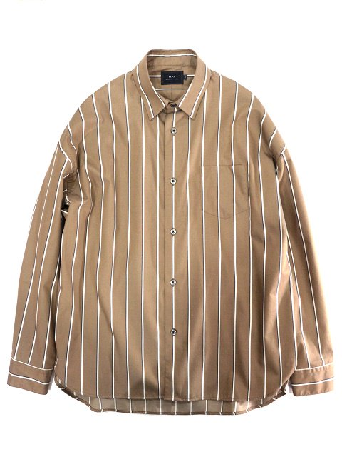 【SLICK】Stripe Dropped Shoulders Shirt:メイン画像