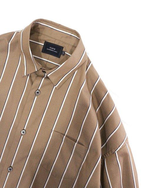 【SLICK】Stripe Dropped Shoulders Shirt:画像2