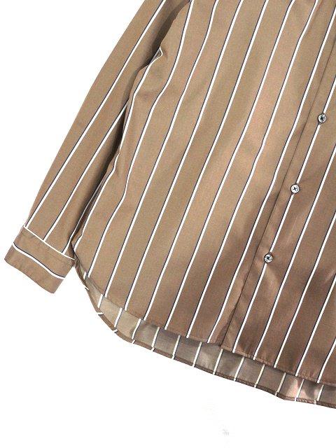 【SLICK】Stripe Dropped Shoulders Shirt:画像3