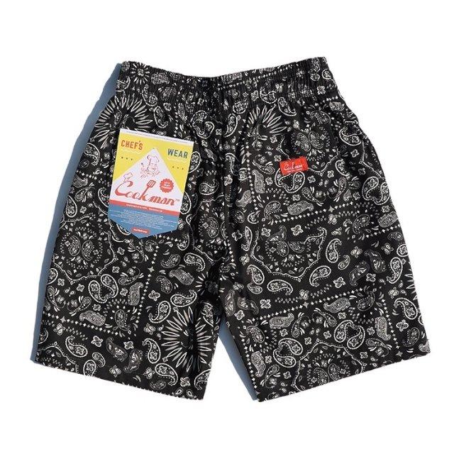 【COOKMAN】Chef Short Pants Paisley:画像2