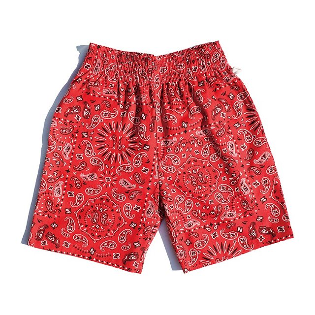 【COOKMAN】Chef Short Pants Paisley:メイン画像